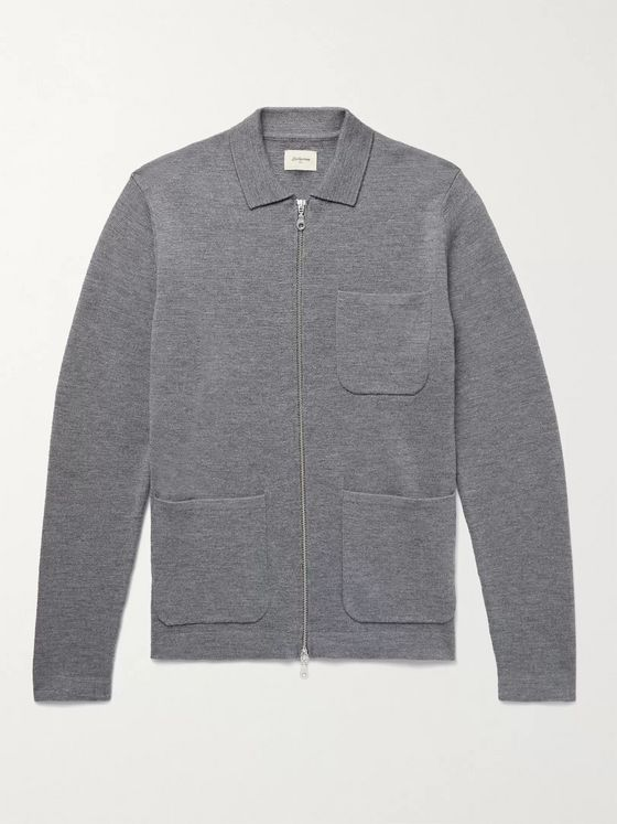 Bellerose Diljy Wool Zip-Up Cardigan