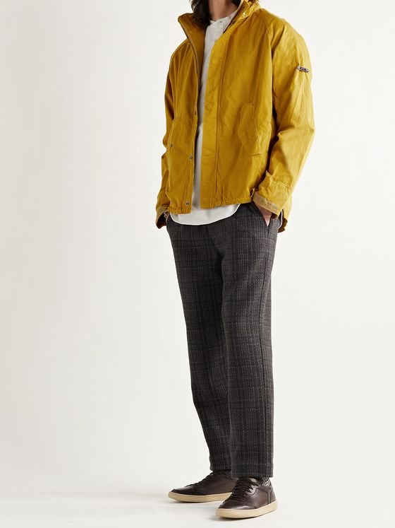 BARBOUR GOLD STANDARD Transporter Corduroy-Trimmed Cotton-Twill Jacket