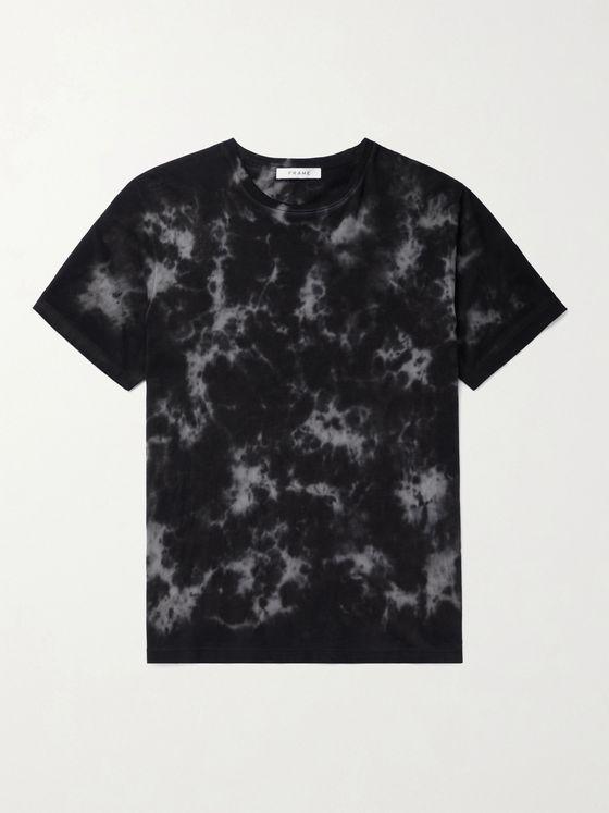 FRAME Tie-Dyed Organic Pima Cotton-Jersey T-Shirt