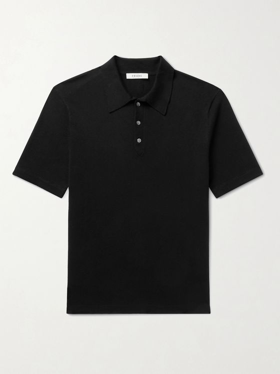 FRAME Luxe Stretch-Knit Polo Shirt