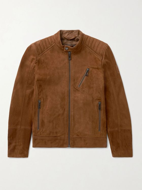 BELSTAFF V Racer 2.0 Slim-Fit Suede Jacket