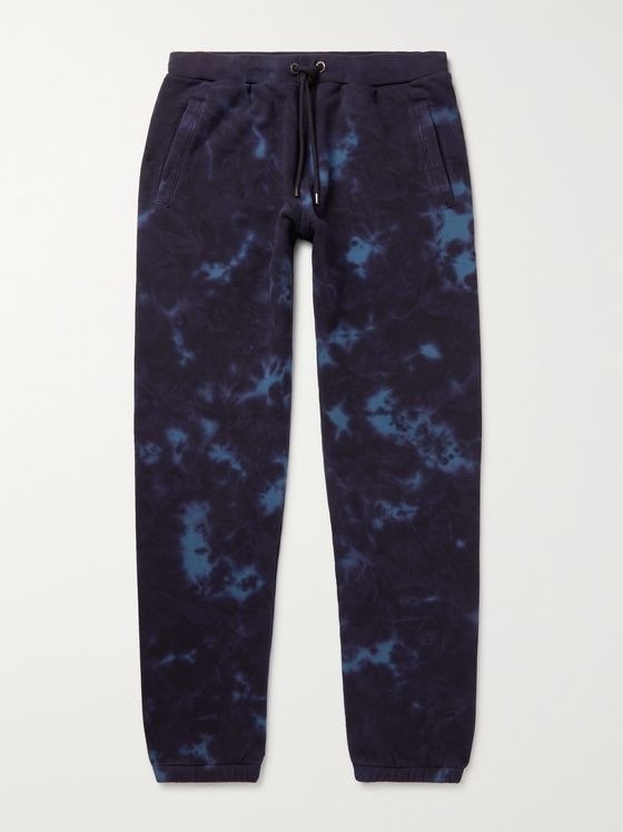 FRAME Slim-Fit Tapered Tie-Dyed Cotton-Blend Sweatpants