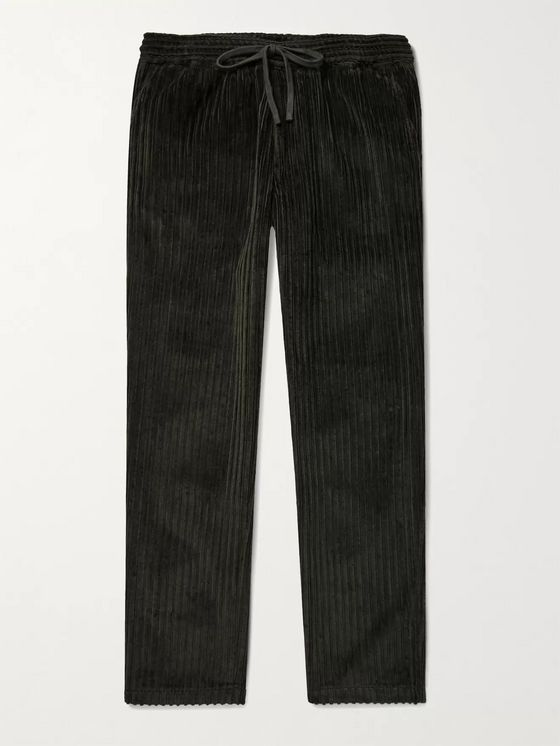 Barena Cotton-Corduroy Drawstring Trousers