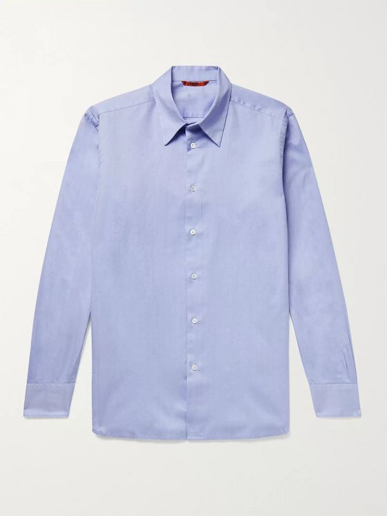 Barena Herringbone Cotton Shirt