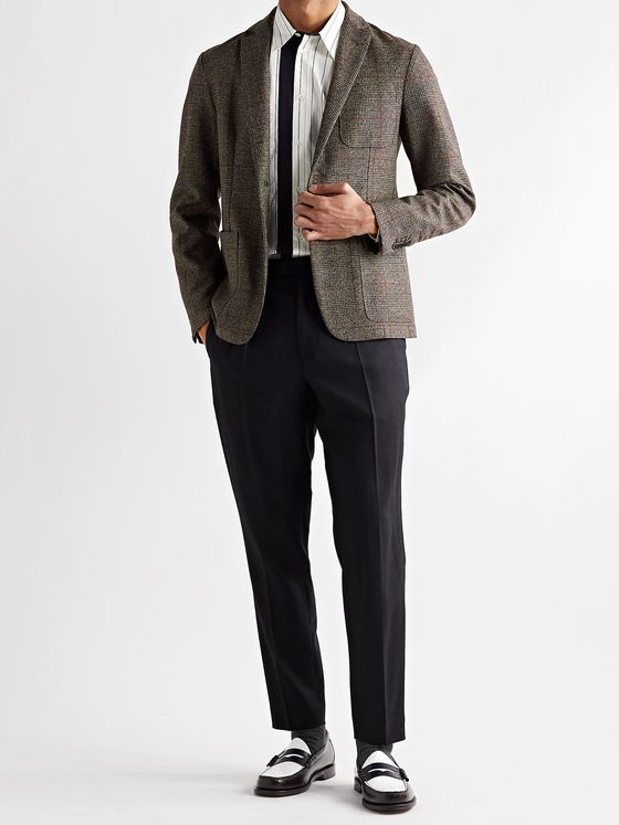 Barena Slim-Fit Checked Virgin Wool Blazer