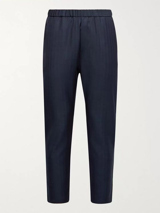 Barena Slim-Fit Striped Virgin Wool Trousers