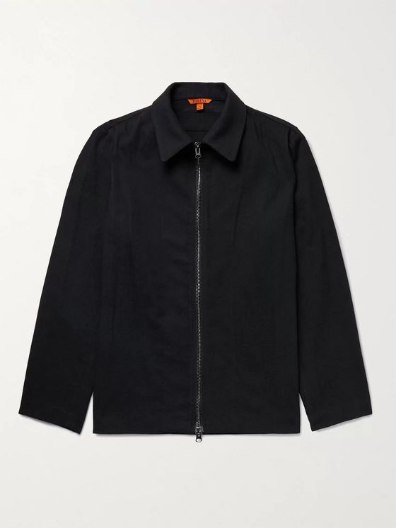 Barena Striped Wool-Blend Blouson Jacket