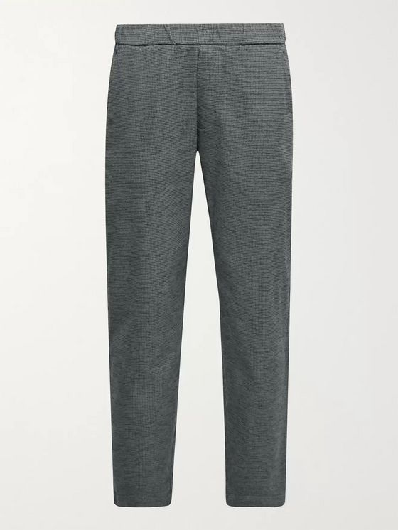 Barena Slim-Fit Puppytooth Cotton-Blend Trousers