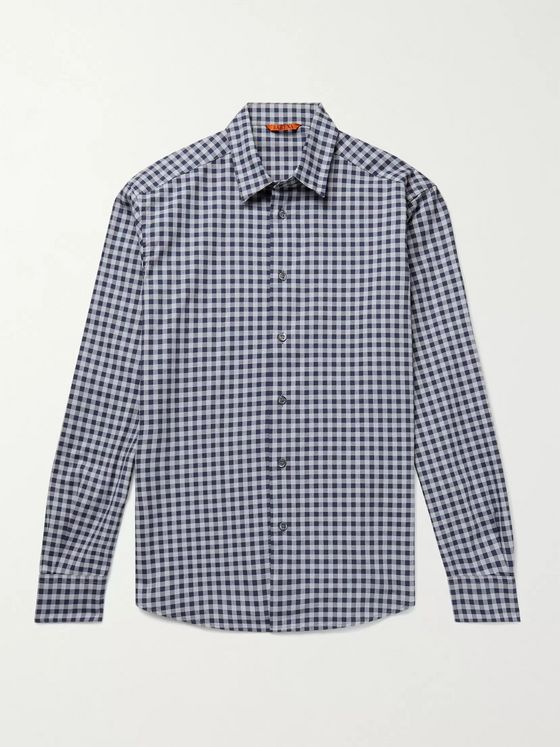 Barena Coppi Slim-Fit Gingham Cotton Shirt