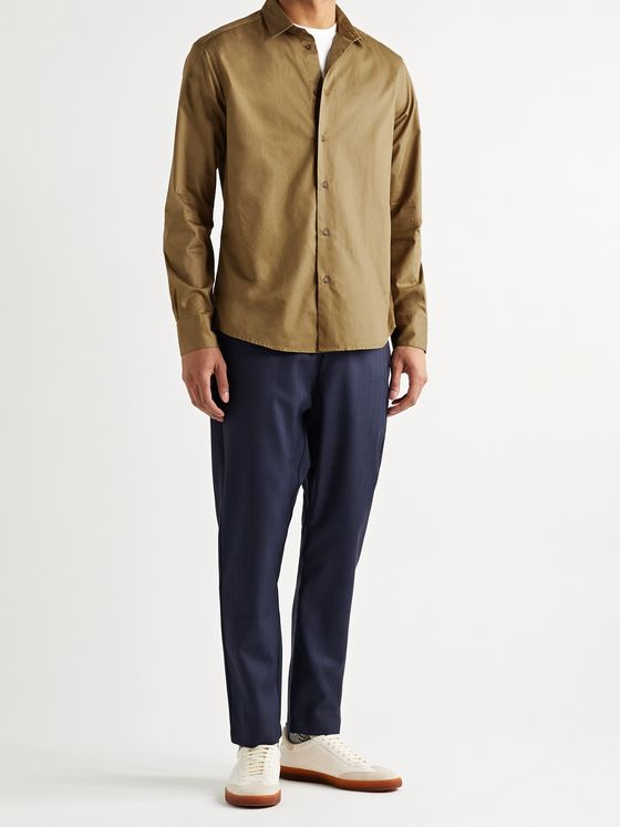 Barena Coppi Slim-Fit Cotton and Wool-Blend Twill Shirt
