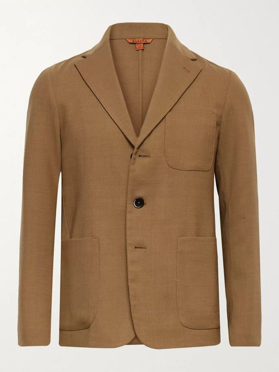BARENA Unstructured Woven Suit Jacket