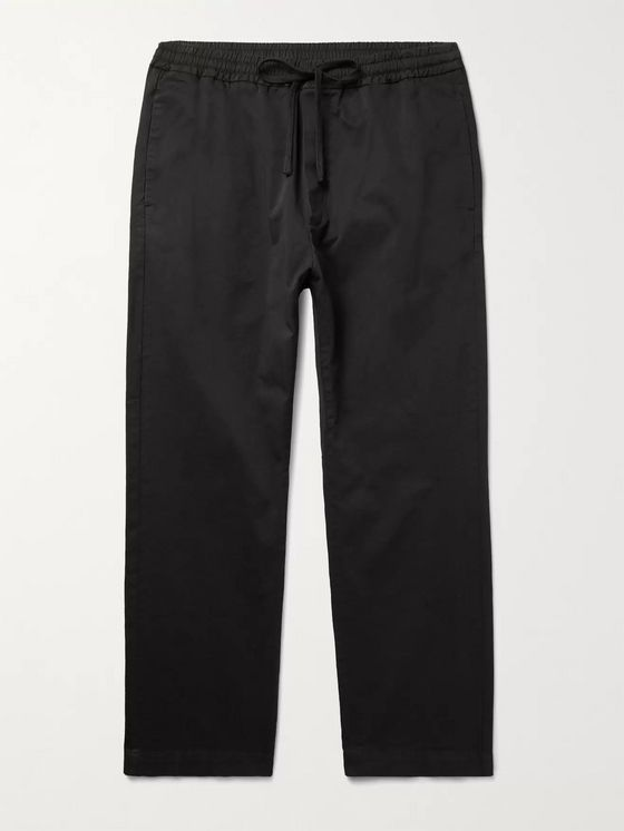 Barena Cotton-Blend Twill Drawstring Trousers