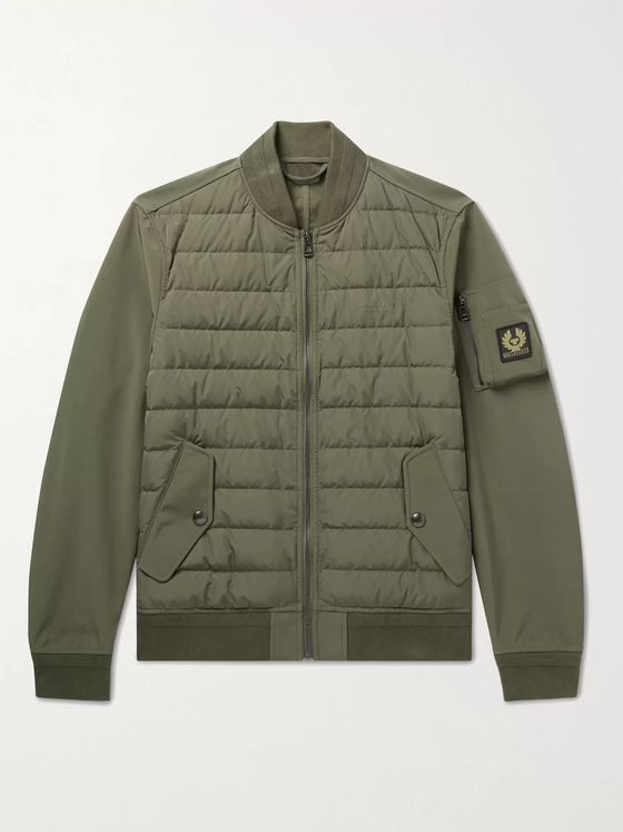 BELSTAFF Mantle Logo-Appliquéd Quilted Shell Down Jacket