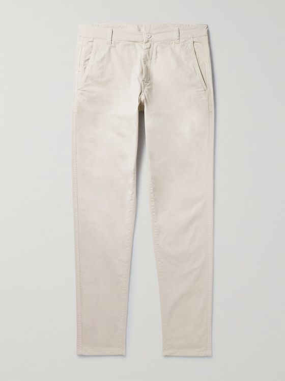 ASPESI Slim-Fit Tapered Stretch-Cotton Gabardine Trousers