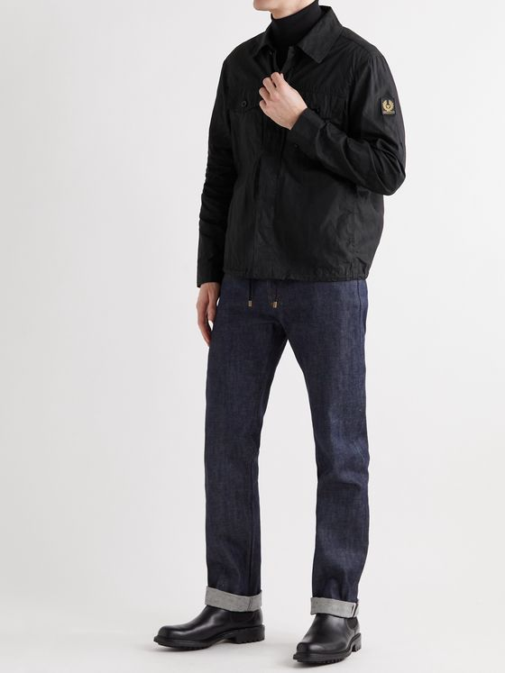 BELSTAFF Recon Logo-Appliquéd Waxed Cotton-Ripstop Overshirt