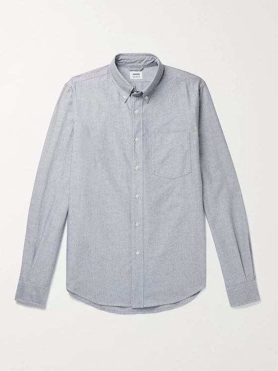 ASPESI Slim-Fit Button-Down Collar Cotton Oxford Shirt