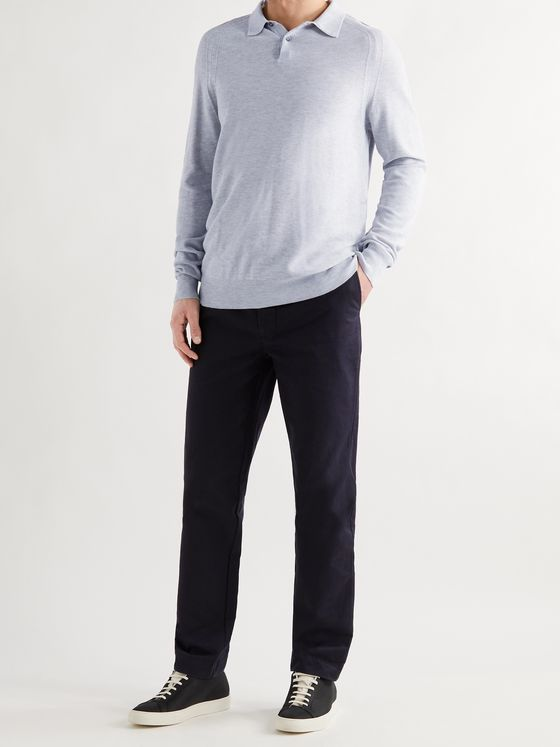ASPESI Mélange Cotton Polo Shirt