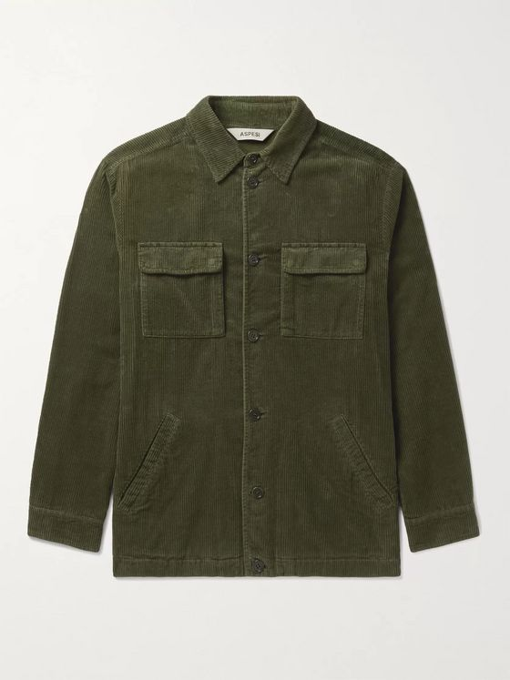 ASPESI Cotton-Corduroy Overshirt