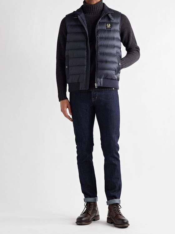 BELSTAFF Circuit Logo-Appliquéd Quilted Shell Down Gilet