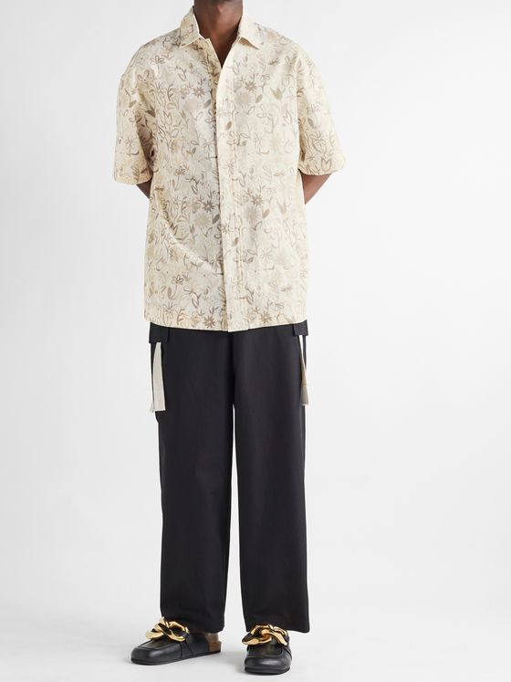 JACQUEMUS Moisson Oversized Floral-Print Cotton and Linen-Blend Shirt