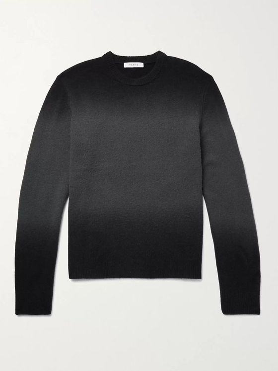 FRAME Mélange Wool-Blend Sweater