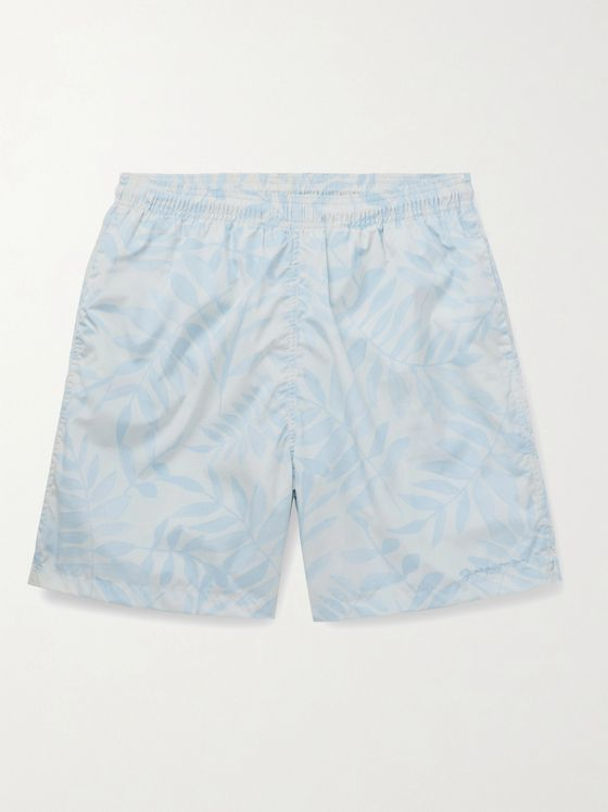 JACQUEMUS Mid-Length Printed Recycled Shell Swim Shorts