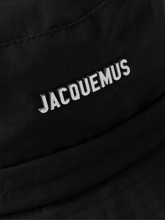 JACQUEMUS Le Bob Logo-Embellished Cotton-Canvas Bucket Hat