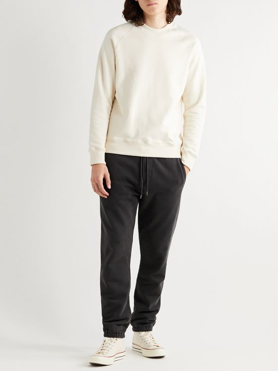 FRAME Camp Tapered Fleece-Back Cotton-Jersey Sweatpants