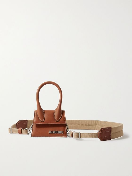 JACQUEMUS Le Chiquito Logo-Appliquéd Leather Messenger Bag