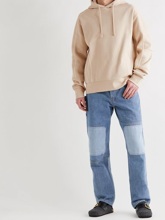 JACQUEMUS Grain Fleece-Back Cotton-Blend Jersey Hoodie