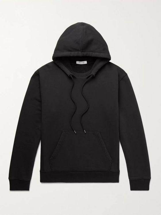 FRAME Fleece-Back Cotton-Jersey Hoodie
