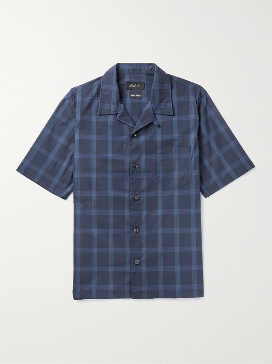 HOWLIN' Cocktail Camp-Collar Checked Cotton-Blend Ripstop Shirt