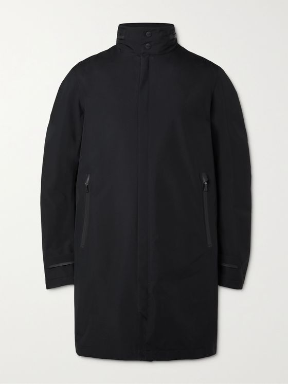 HERNO LAMINAR GORE-TEX PACLITE Hooded Trench Coat