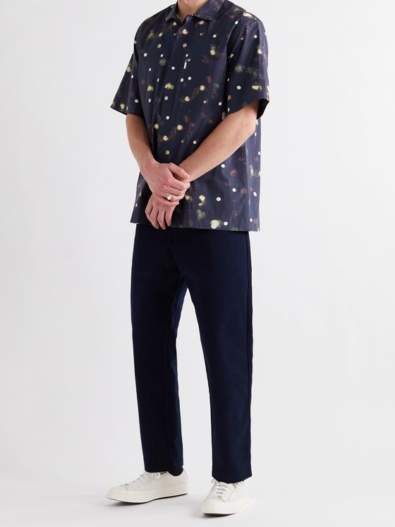 Studio Nicholson Zanza Printed Cotton-Poplin Shirt
