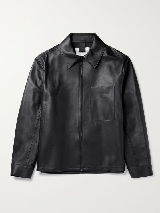 STUDIO NICHOLSON Nebo Leather Jacket