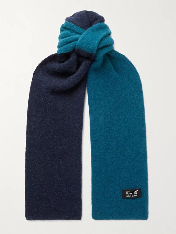 HOWLIN' Laser Attack Two-Tone Wool Scarf