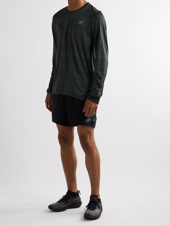 New Balance Q Speed Fuel Jacquard-Knit Running T-Shirt