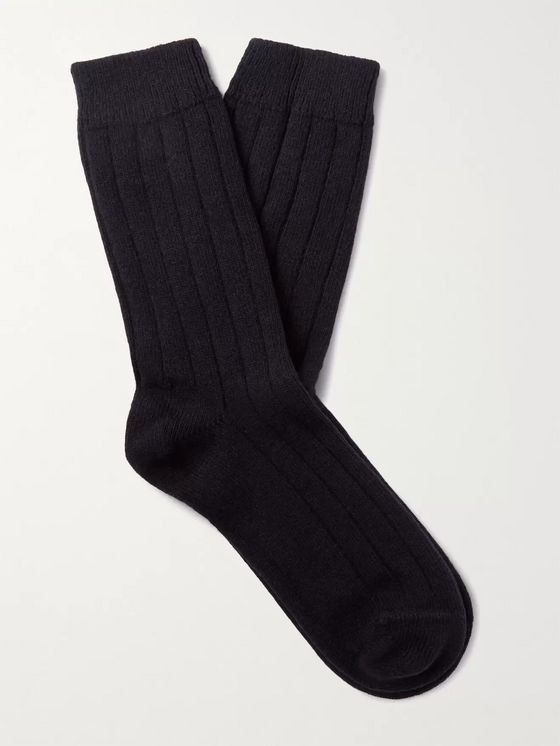 NN07 9055 Ribbed Wool-Blend Socks