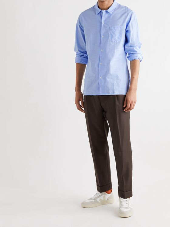 OFFICINE GÉNÉRALE Batiste Cotton and Linen-Blend Shirt