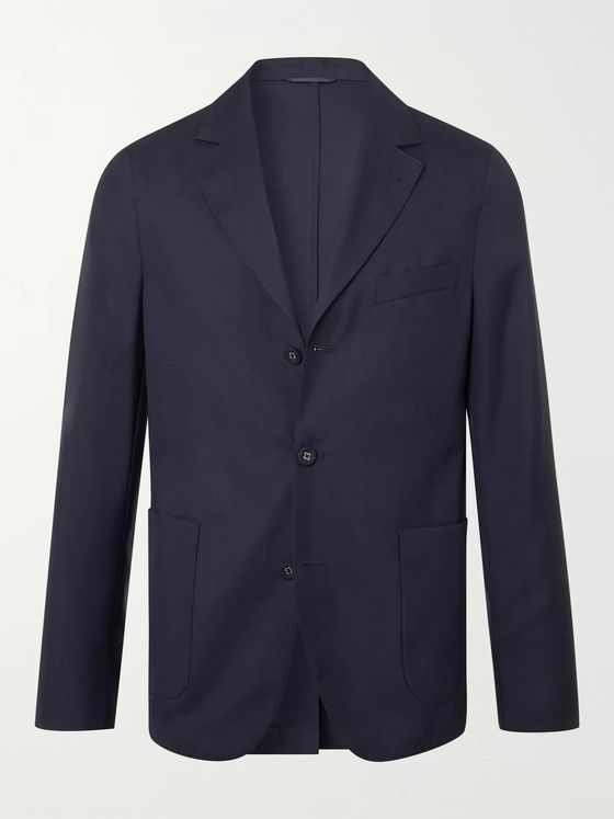 OFFICINE GÉNÉRALE Armie Unstructured Wool-Flannel Suit Jacket