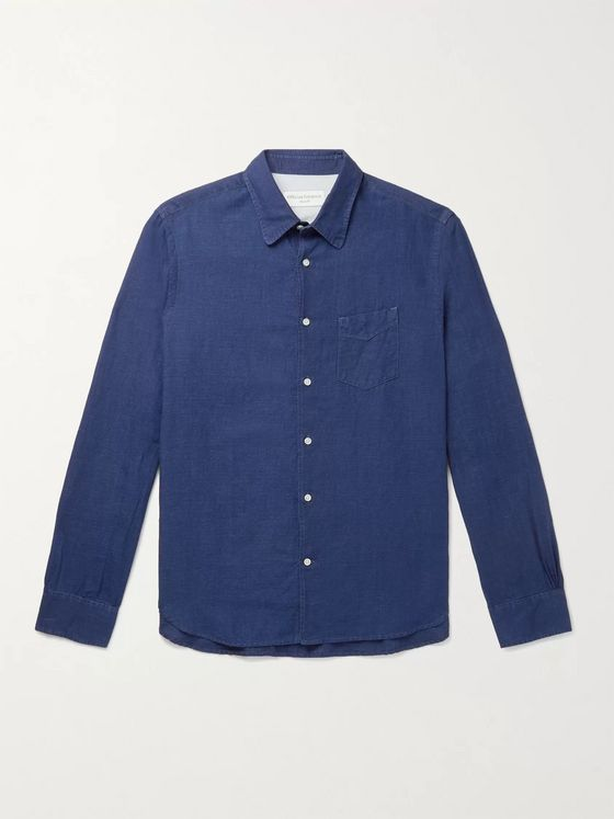 OFFICINE GÉNÉRALE Benoit Slim-Fit Cotton and Linen-Blend Shirt