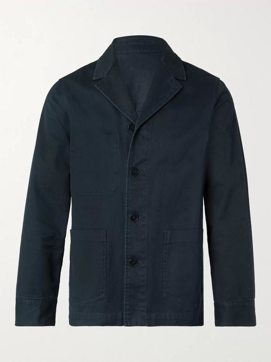 OFFICINE GÉNÉRALE Benjamin Slim-Fit Unstructured Garment-Dyed Cotton-Twill Blazer