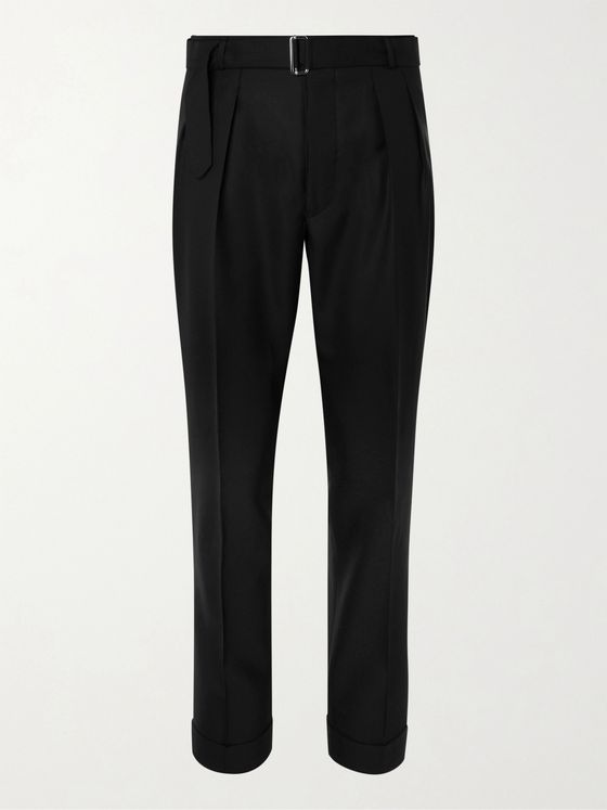 OFFICINE GÉNÉRALE Hugo Tapered Pleated Virgin Wool Suit Trousers