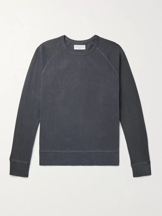 OFFICINE GÉNÉRALE Clement Garment-Dyed Loopback Cotton-Jersey Sweatshirt