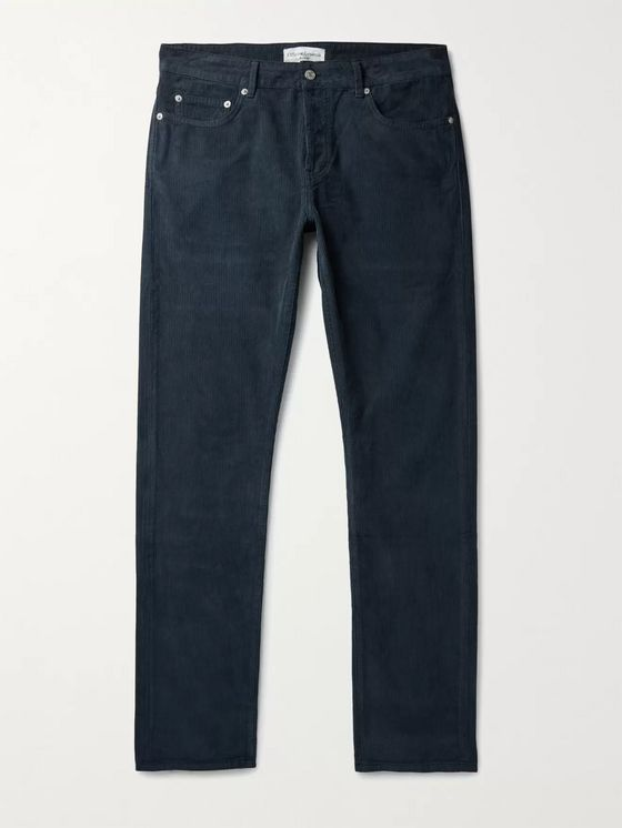 OFFICINE GÉNÉRALE Kurt Slim-Fit Pigment-Dyed Cotton-Corduroy Trousers