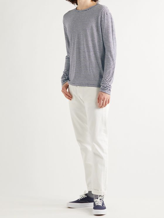 OFFICINE GÉNÉRALE Striped Linen T-Shirt