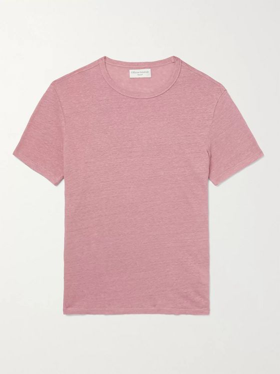 OFFICINE GÉNÉRALE Garment-Dyed Linen T-Shirt