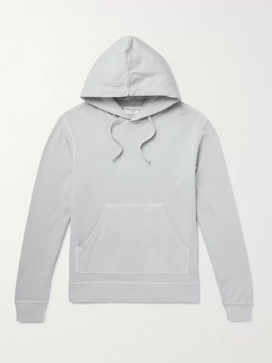 OFFICINE GÉNÉRALE Olivier Garment-Dyed Loopback Cotton-Jersey Hoodie