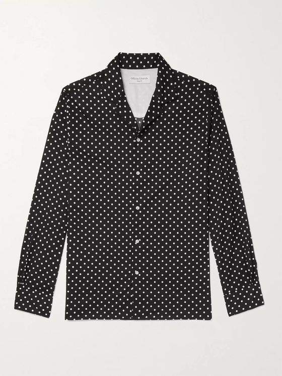 OFFICINE GÉNÉRALE Dario Camp-Collar Polka-Dot Cotton Shirt