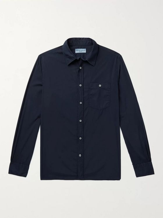 OFFICINE GÉNÉRALE Alex Garment-Dyed Cotton-Poplin Shirt